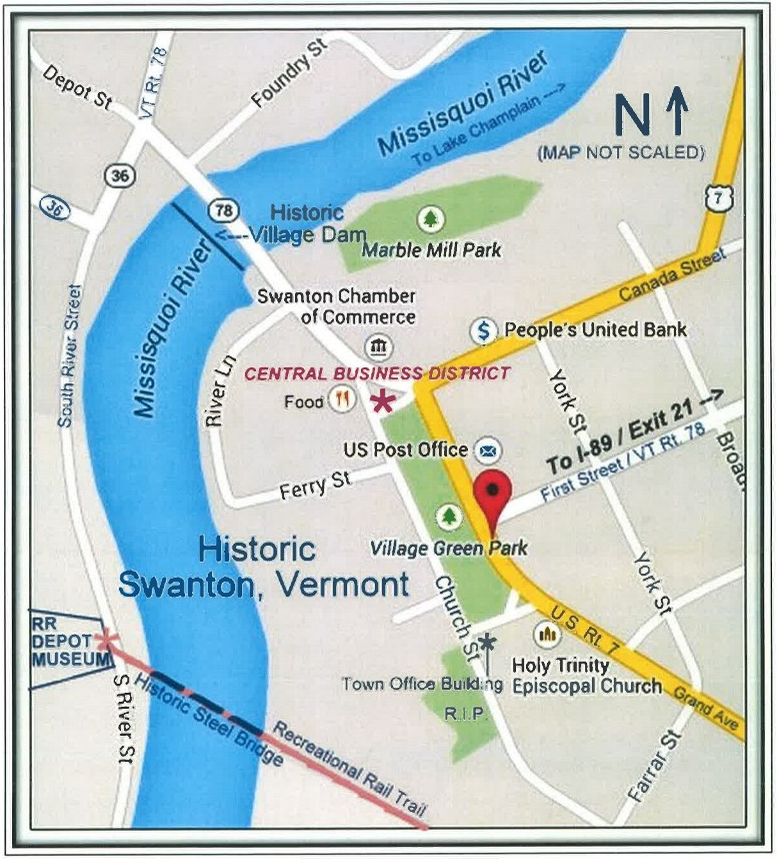 Swanton Historical Society Heritage Walking Tour Vermont: Map Of Highgate Vermont At Usa Maps