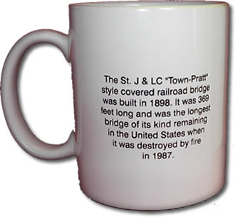 Swanton Historical Society Mug 2 Back